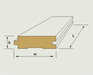 Плинтус напольный шириной 40 мм