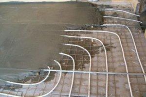Бетонный водяной теплый пол