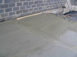 Заливка пола бетоном приготовление цементного раствора из сухой смеси