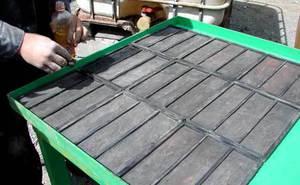 Как изготовить тротуарную плитку